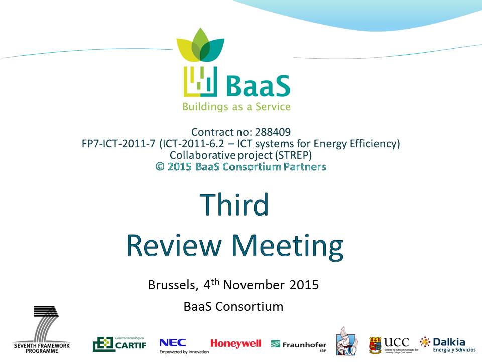 3rd review meeting in Brussels